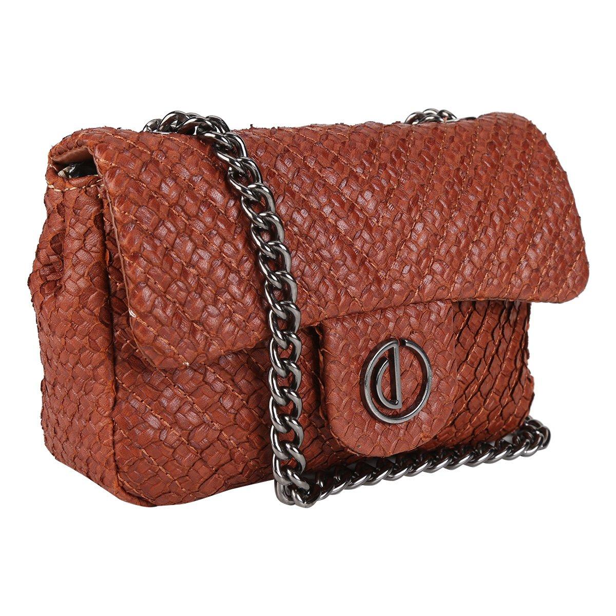 Feminina Bag Couro Bolsa Caseina Caramelo Mini Bolsa Couro Serpente Dumond XZ8qFwUUx