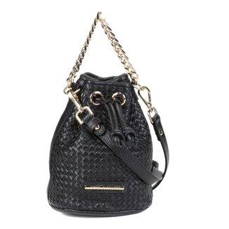 Bolsa Couro Jorge Bischoff Mini Bag Tressê Feminina