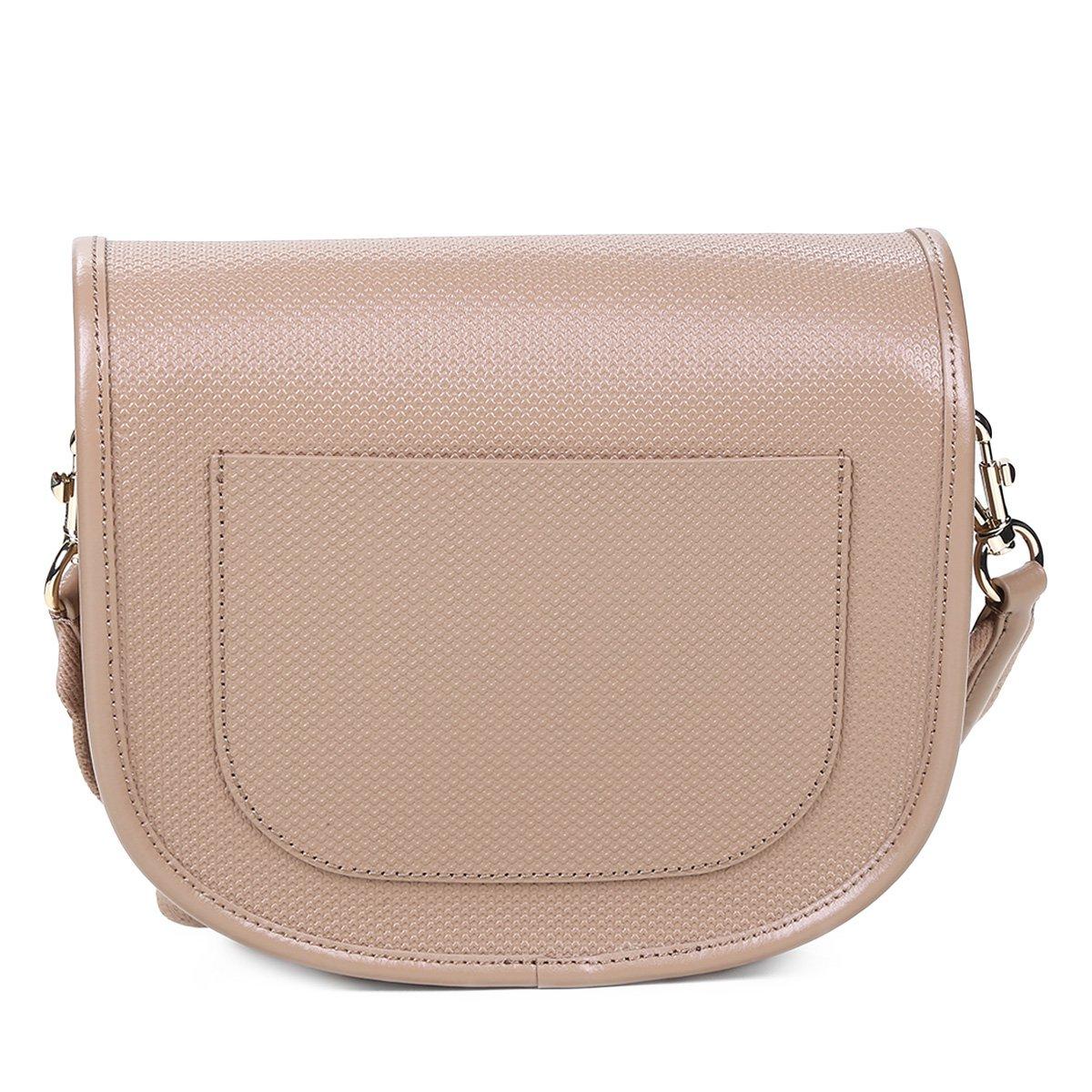 6b10f73cfc126 Bolsa Couro Lacoste Flap Feminina - Marrom Claro - Compre Agora ...