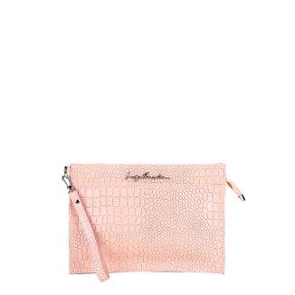 Bolsa Couro Luiza Barcelos Mini Bag Croco Feminina