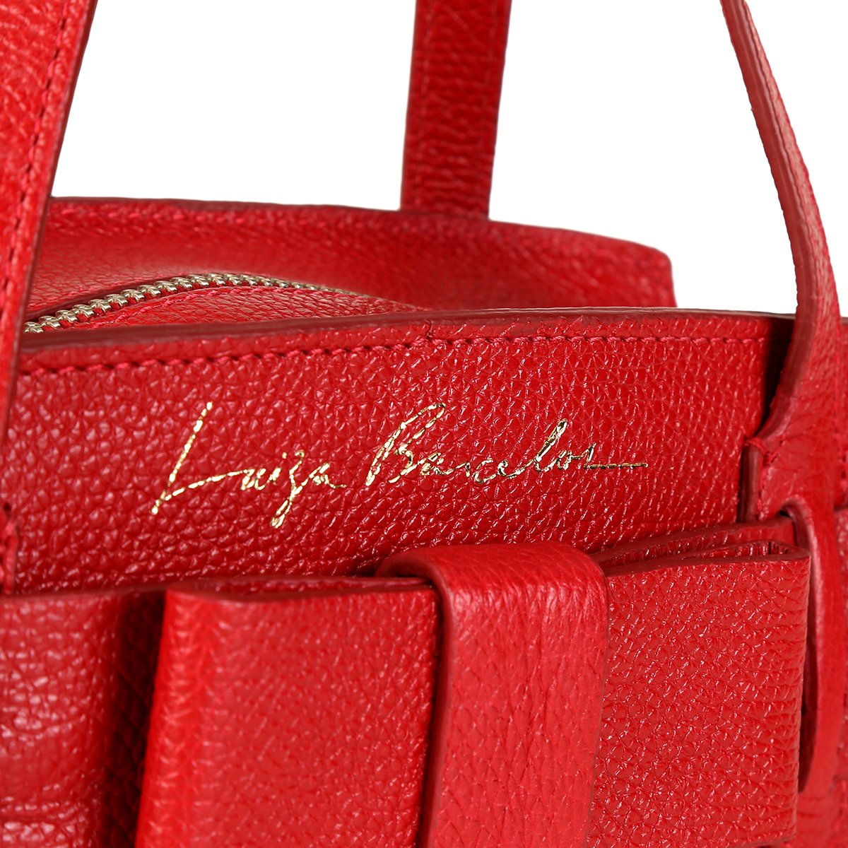 Laço Mini Luiza Estruturada Bag Viena Bolsa Couro Barcelos Vermelho Feminina 56x4qwgYtg