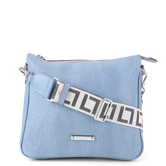 Bolsa Couro Luz Da Lua Alça Monograma Feminina - Jeans