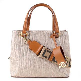 Bolsa Couro Luz Da Lua Handbag Monograma Feminina
