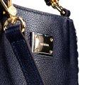 Bolsa Couro Luz da Lua Handbag Plaquinha Feminina