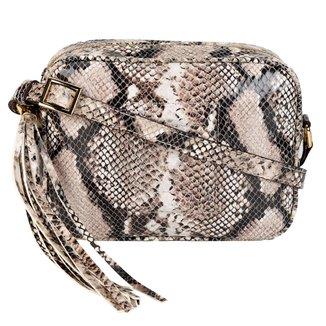 Bolsa Couro Luz da Lua Mini Bag Cobra Feminina