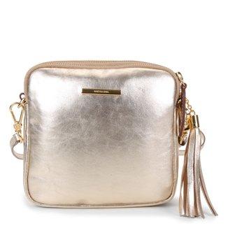 Bolsa Couro Luz da Lua Mini Bag Lisa Feminina