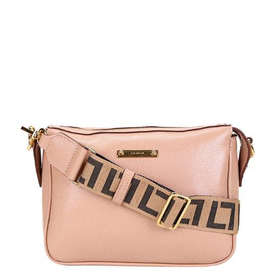 Bolsa Couro Luz da Lua Mini Bag Transversal Feminina - Bege