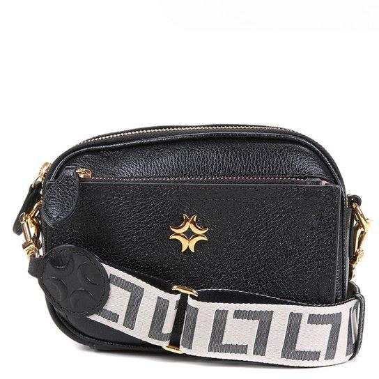 Bolsa Couro Luz da Lua Mini Bag Transversal Feminina - Preto