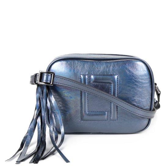 Bolsa Couro Luz da Lua Mini Bag Transversal Feminina - Marinho