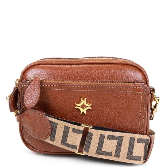 Bolsa Couro Luz da Lua Mini Bag Transversal Feminina - Marrom