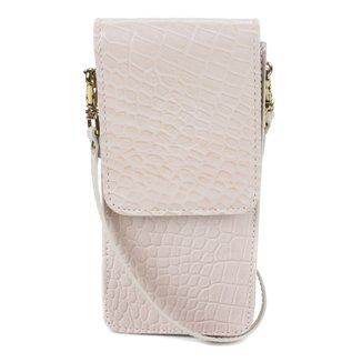 Bolsa Couro Porta Celular Shoestock Croco Feminina