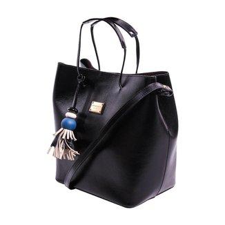 Bolsa Couro Preta - Smartbag