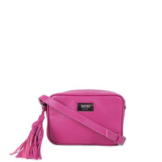 Bolsa Couro Santa Lolla Mini Bag Transversal Feminina - Pink