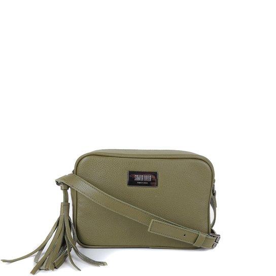 Bolsa Couro Santa Lolla Mini Bag Transversal Feminina - Verde