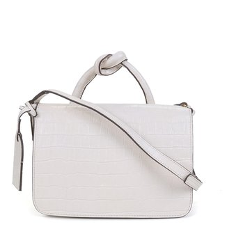 Bolsa Couro Shoestock Croco Flap Bag Feminina