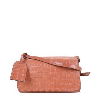 Bolsa Couro Shoestock Croco Transversal Feminina