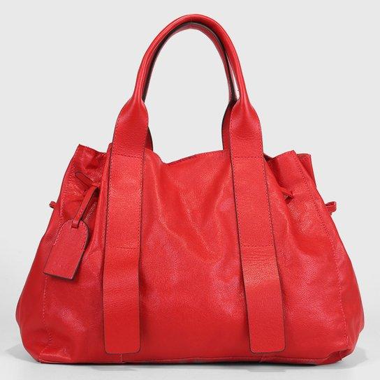 Bolsa Couro Shoestock Tote Desestruturada Feminina - Vermelho
