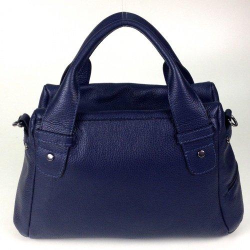 couro Legaspi Bolsa Azul de Feminina Bolsa de couro Cincinnati xPRIq6Rw
