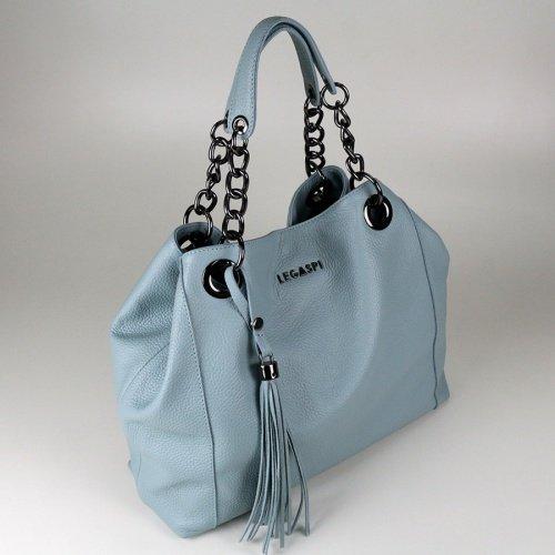 Bolsa de de de couro Bolsa Dominika Feminina Azul Legaspi Legaspi Claro couro Feminina Azul Bolsa Dominika Claro wzdxCw