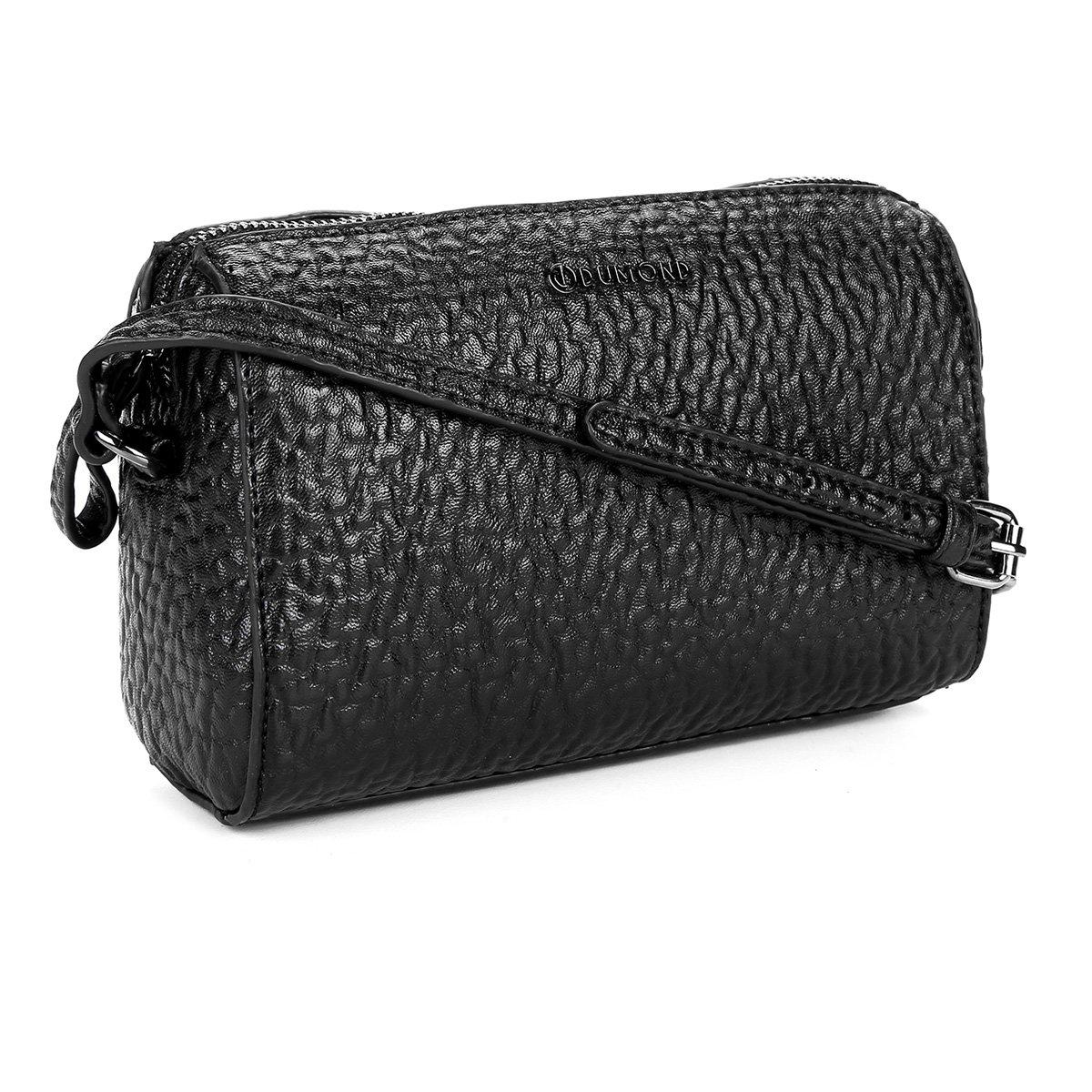 2e71406e9 Bolsa Dumond Mini Bag Matelassê Alça Transversal Feminina - Preto ...