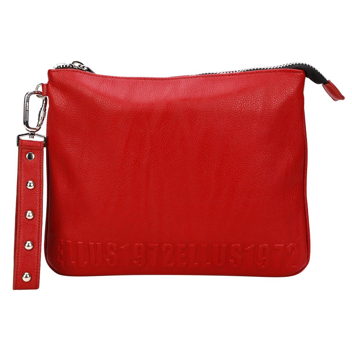 Bolsa Ellus Clutch Alto Relevo : Bolsa ellus clutch alto relevo vermelho
