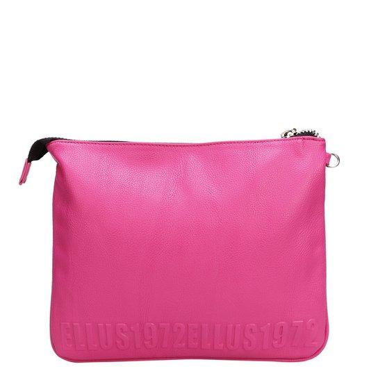 Bolsa Ellus Clutch Alto Relevo - Pink