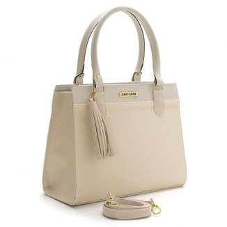 Bolsa Feminina Santorini Handbag Tricê Bege