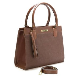 Bolsa Feminina Santorini Handbag Tricê Marrom