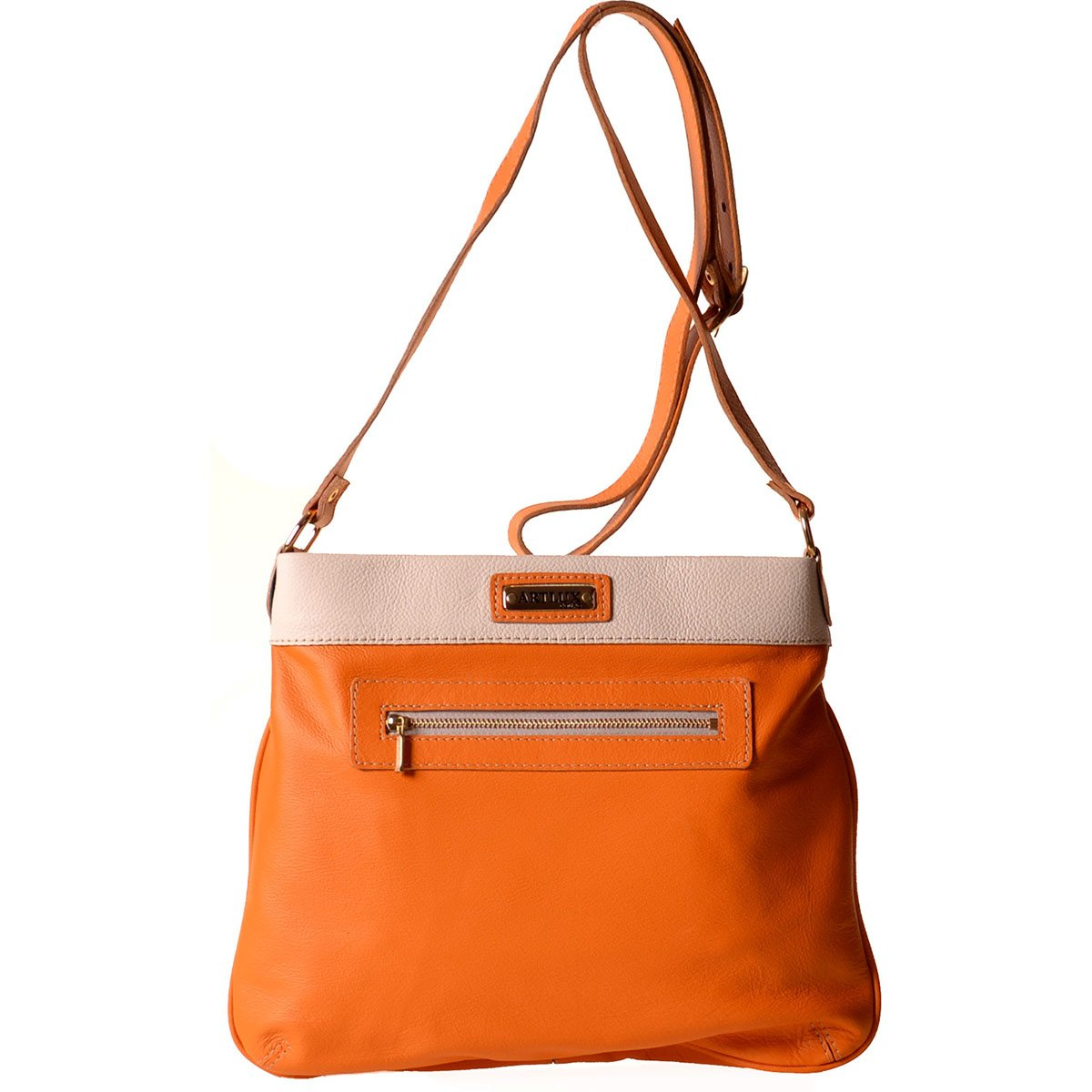 818a26032 Bolsa Feminina Transversal 8057 - Laranja - Compre Agora