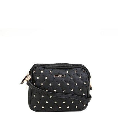Bolsa Gash Mini Bag Aplique Tachas Alça Transversal Feminina-Feminino