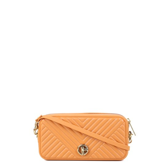 Bolsa Giulia Bardô Mini Bag Matelassê Feminina - Amarelo Escuro