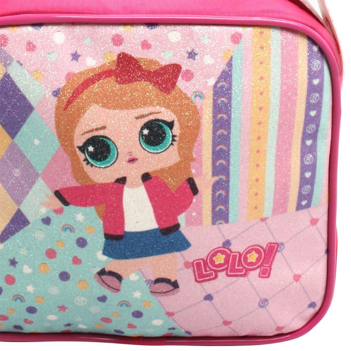 Bolsa Glitter Lorena Queiroz Feminina Infantil - Pink