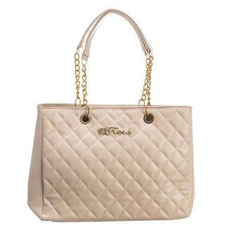 Bolsa Handbag D'Flora Alça Dupla Feminina Dia Dia Elegante