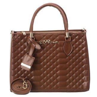 Bolsa Handbag D'Flora Alça Dupla Feminina Ziper Dia Dia
