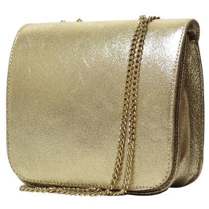 Bolsa Hendy Bag     Dourada Couro Menor-Feminino