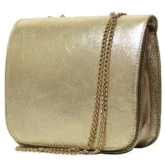 Bolsa Hendy Bag     Dourada Couro Menor