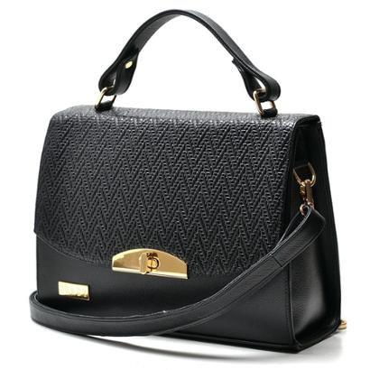 Bolsa Hendy Bag Estruturada Couro-Feminino