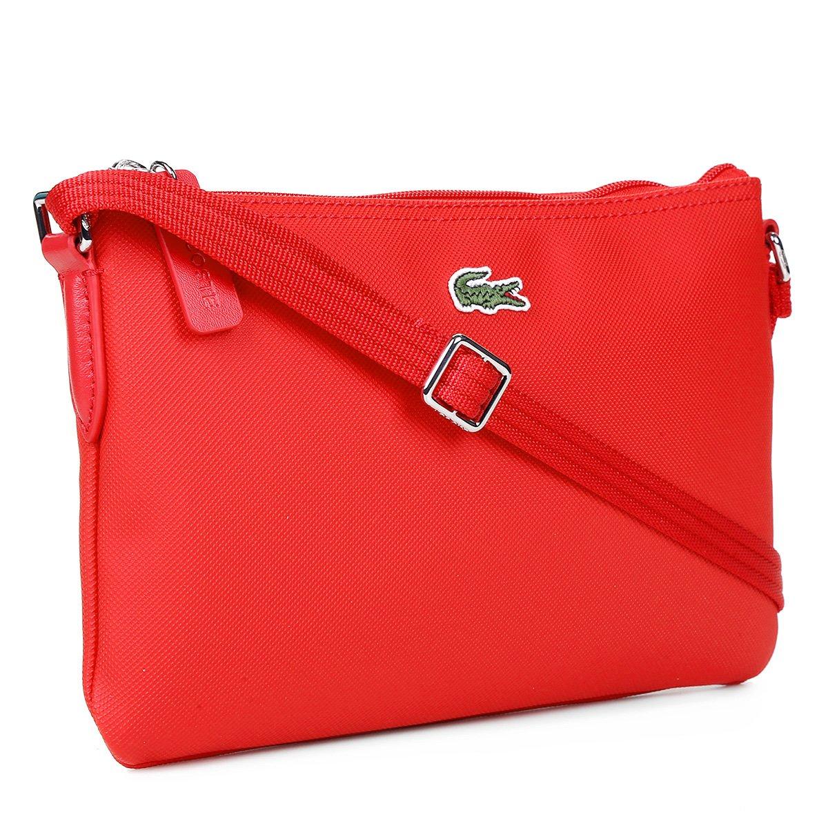 19dc5f09130e4 Bolsa Lacoste Flat Logo Feminina - Coral - Compre Agora   Zattini