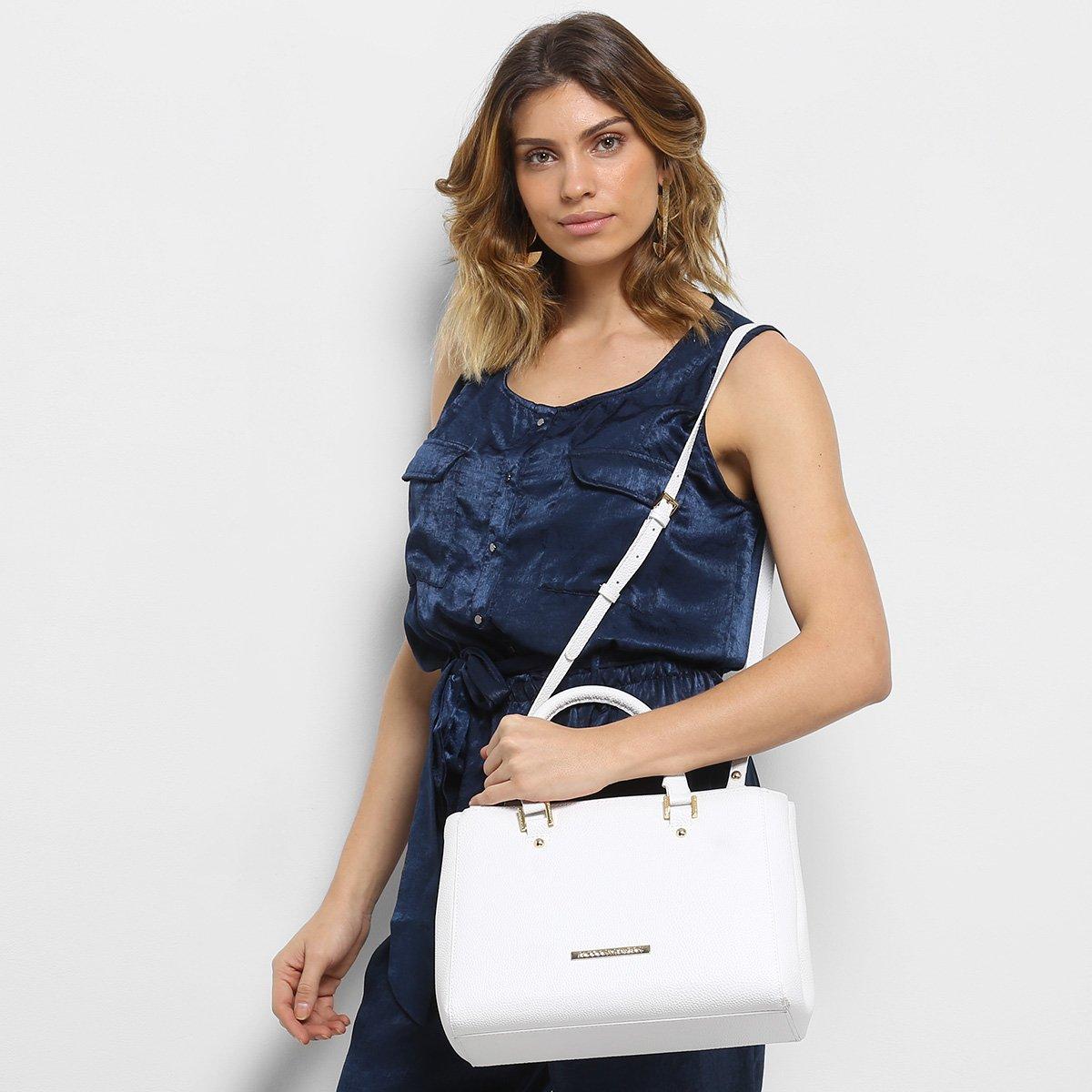 Feminina Média Santos amp; Santos Branco Bolsa Média amp; Handbag Loucos Handbag Loucos Bolsa PdxTnva