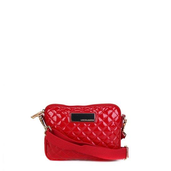Bolsa Loucos & Santos Mini Bag Matalassê Plaquinha Feminina - Vermelho