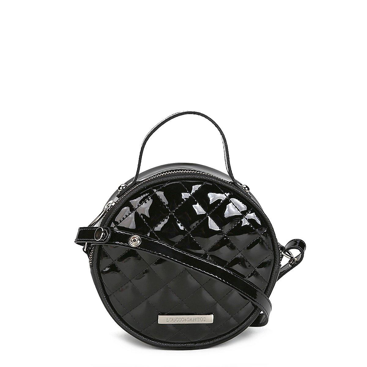 Bolsa Loucos e Santos Mini Bag Redonda Matelassê Verniz Feminina - Compre  Agora  06950b4b5cd
