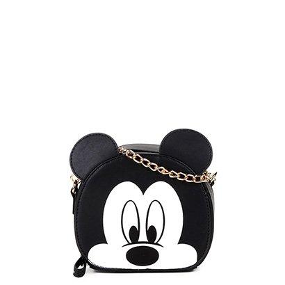 Bolsa Luxcel Gash Mini Bag Mickey Alça Corrente Feminina-Feminino