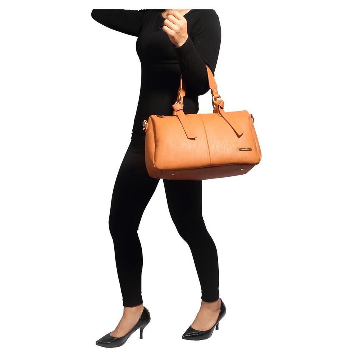 Mão Bolsa Alça Antebraço Com Ou Macadâmia Marrom De Feminina wwFqgvI