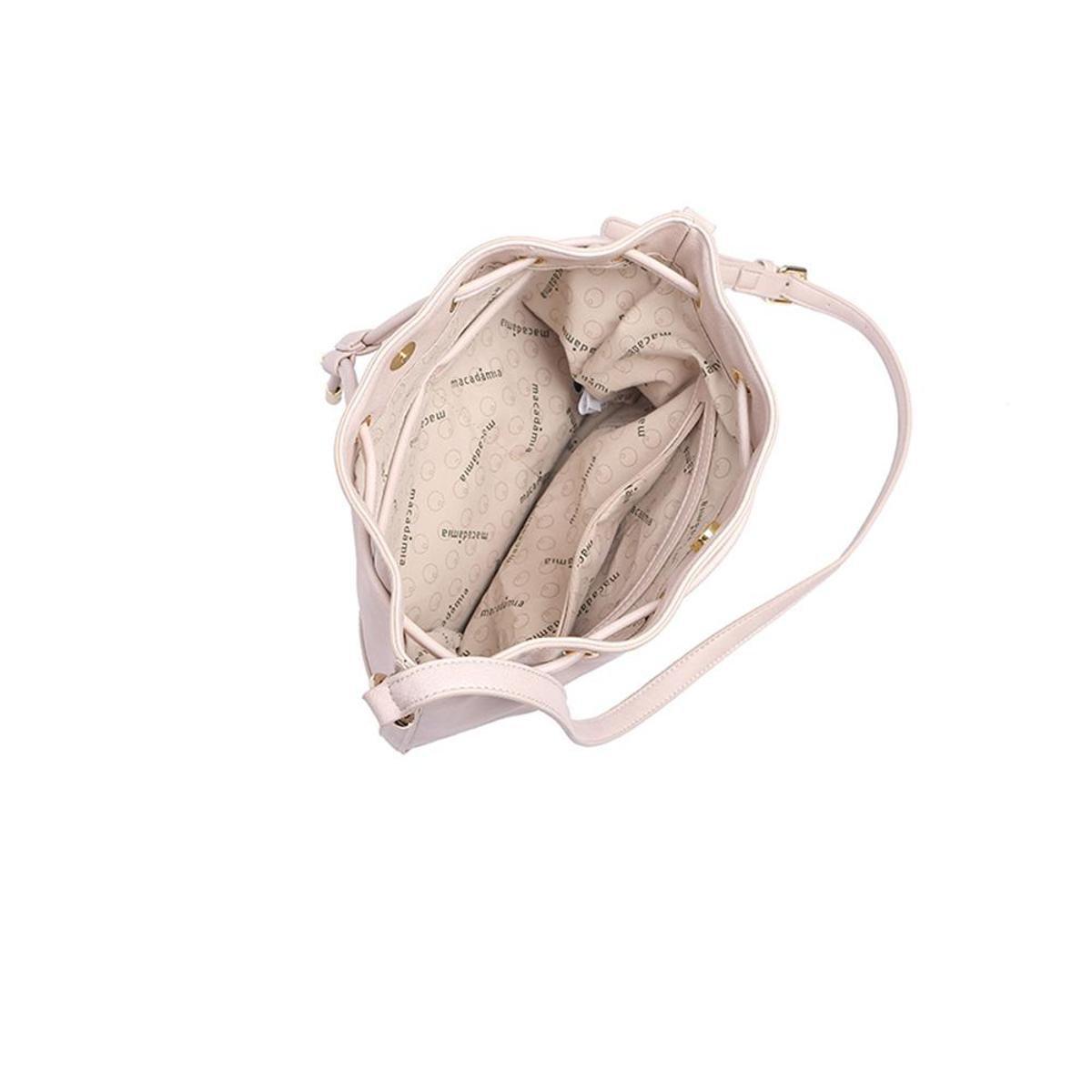 Estilo Saco Creme Bolsa Macadâmia Feminina Macadâmia Bolsa Com Cordão xqawtFt