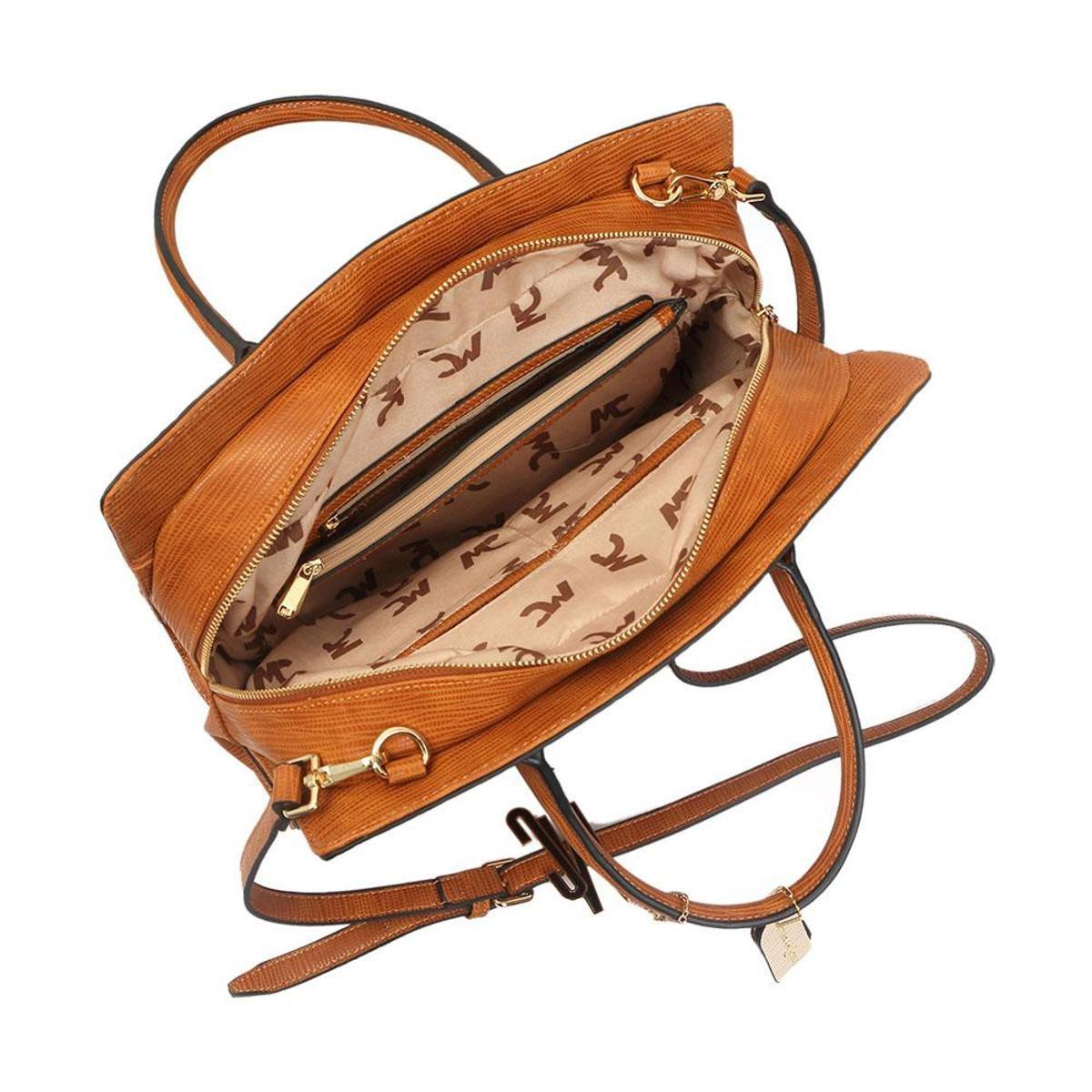 Grande Croco Bolsa Grande Caramelo Bolsa Textura Macadamia Com Macadamia Com AOqAX1