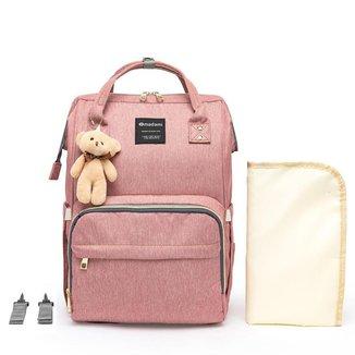 Bolsa Maternidade Madami Multifuncional Espaçosa C/ Gancho para Carrinho e Trocador