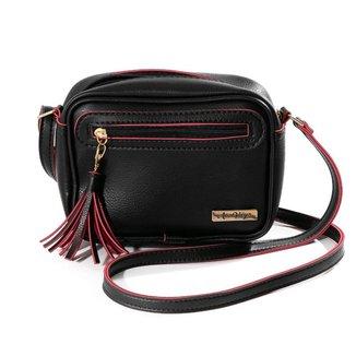 Bolsa Mini Bag Feminina Alça Transversal Zíper Lisa Casual