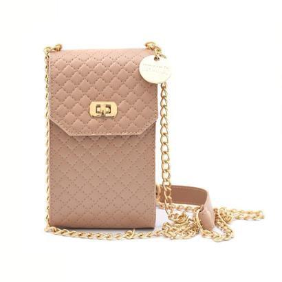 Bolsa Mini Bag Porta Celular Transversal Matelassê Feminina