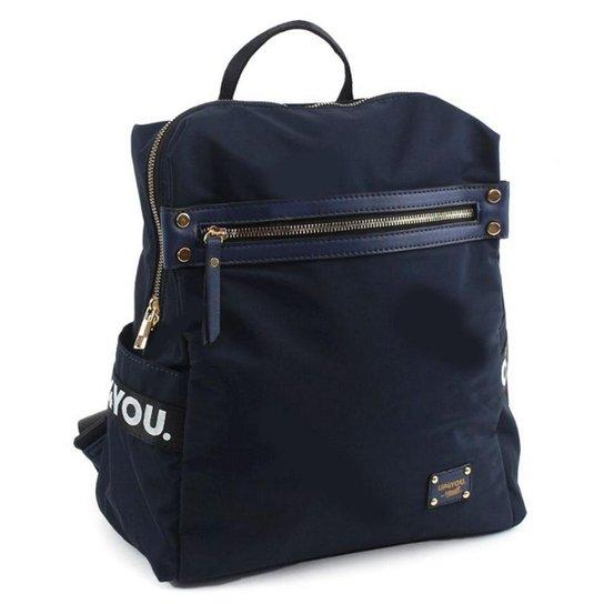 Bolsa Mochila Feminina Up4you BR67223 - Azul+Marinho