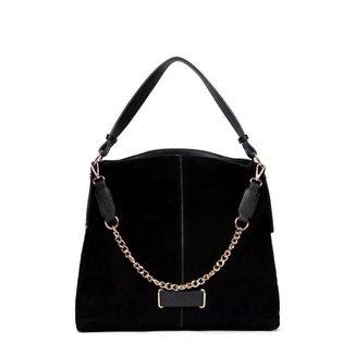 Bolsa Nice Bag Handbag Camurça Alça Corrente Feminina